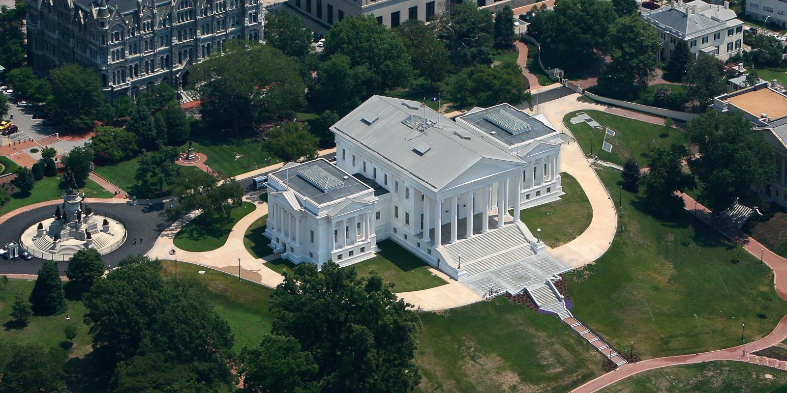 Aerial of Richmond Capitol