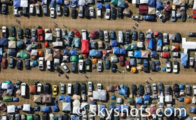 Artistic Camper Parking Lot