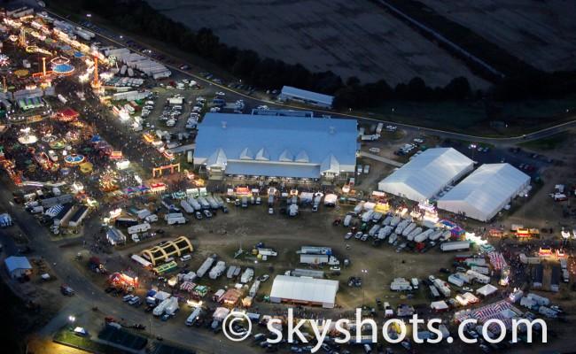 Virginia State Fair Nightime Aerial