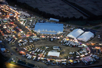 Virginia State Fair Nightime Aerial